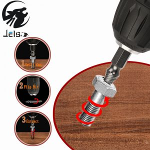 Jelbo Screws Remove Demolition Tools Screw Extractor Drill Bit Set Kit Drill Bit...