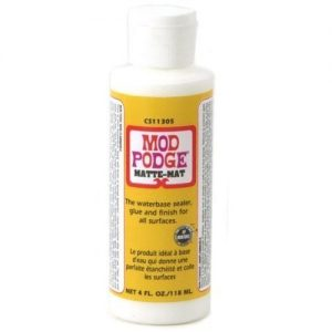 Mod Podge Waterbase Sealer, Glue and Finish (4-Ounce), CS11305 Matte Finish