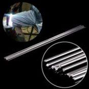 10pcs Metal Aluminum Welding Rod Low Temperature Magnesium Soldering Brazing Stick Rods 1.6mmx45cm Silver