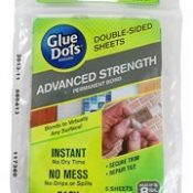 Glue Dots Advanced Strength Adhesive Sheets, Double Sided, Permanent Bond, 5 Sheets (37030)