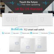 Broadlink TC2 UK EU US Switch 1Gang 2Gang 3Gang Touch Switch Smart Home Automation Wireless Wifi Control Light Wall Switch RF433