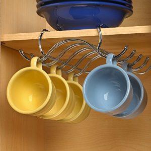 Spectrum Diversified Under The Shelf Mug Holder, Chrome