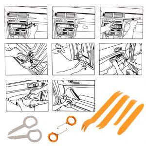 Professional 12pcs/set Vehicle Dash Trim Tool Car Door Panel Audio Dismantle Rem...
